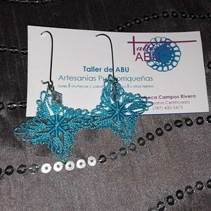 Blue Handmade earrings by Taller de ABU